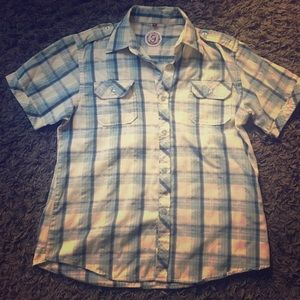 Flannel bottom down tshirt